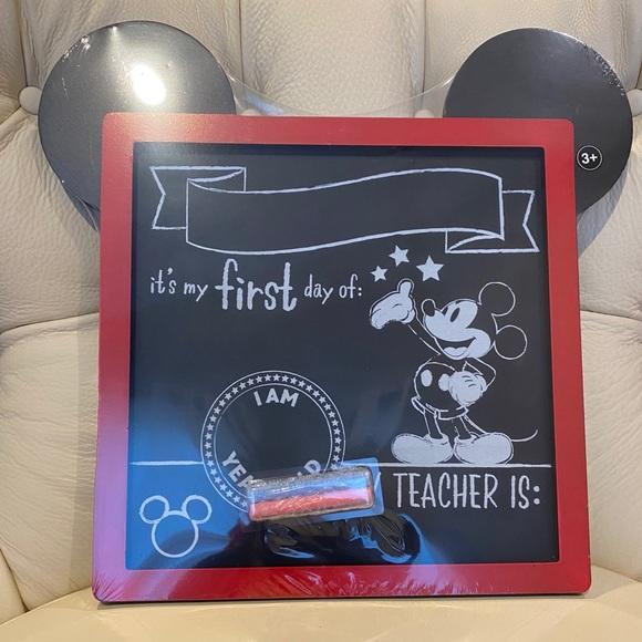 Disney Mickey First Day Of School Chalkboa…